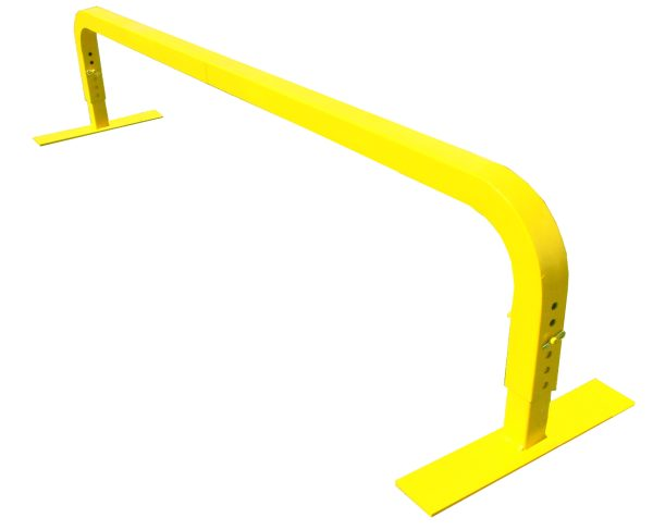 skate rail, split rail, mojo yellow rail